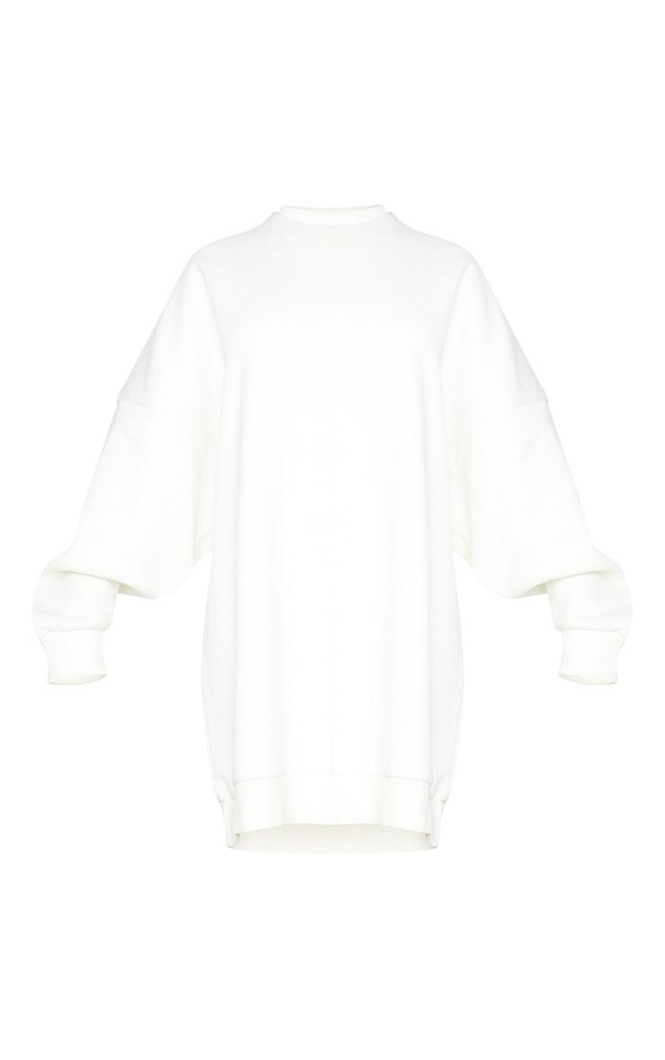 Recycled Cream Wellness Edition Slogan Sweat Jumper Dress 5
