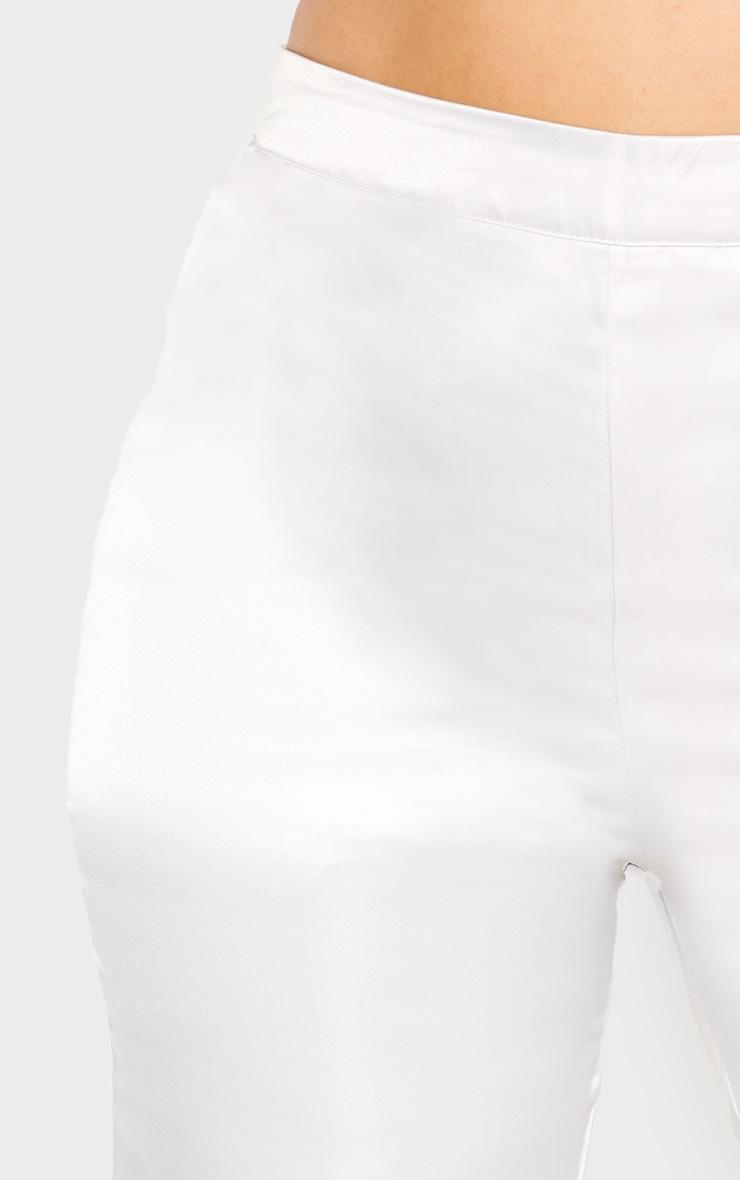 PLT Plus - Pantalon satiné argenté jambes évasées 5