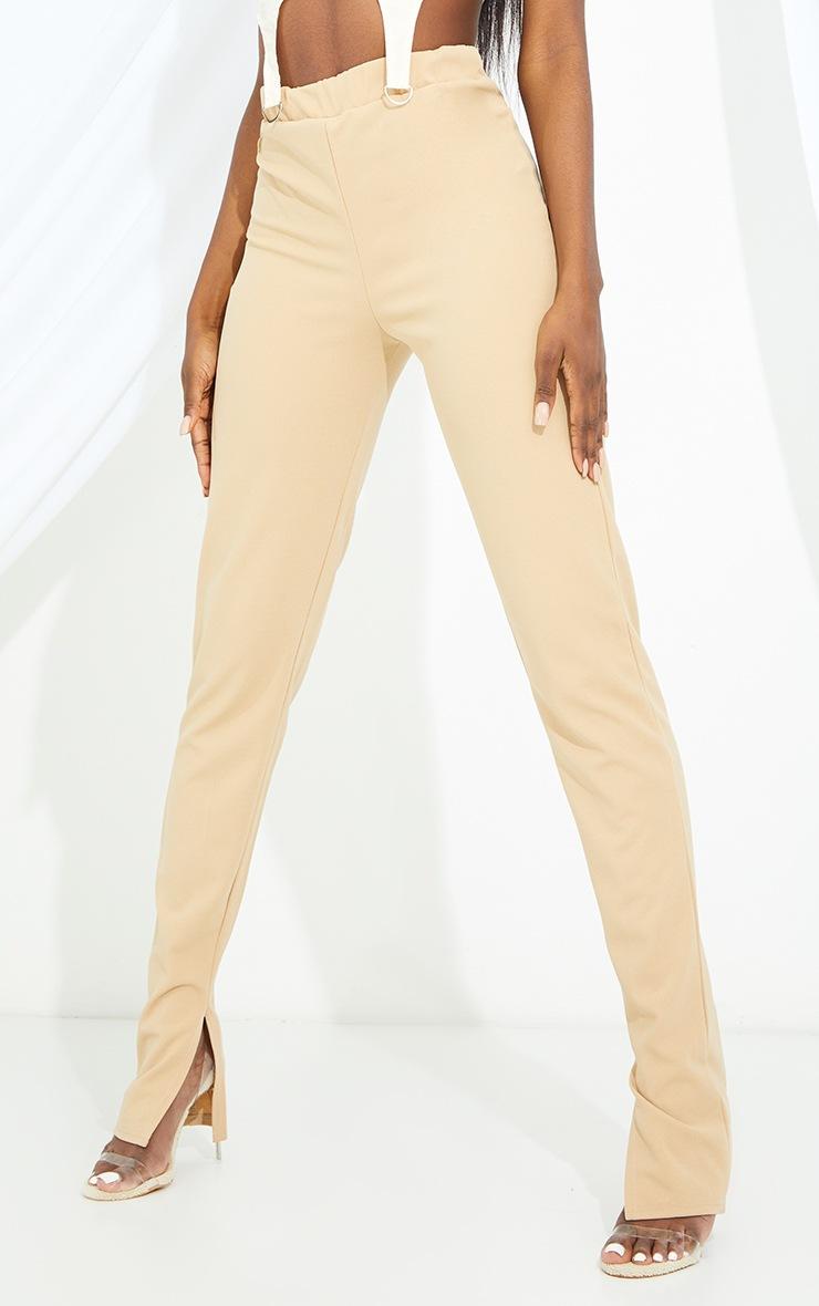 Tall Stone Back Seam Split Hem Crepe Trouser 2