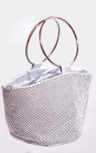 Silver Diamante Bucket Bag