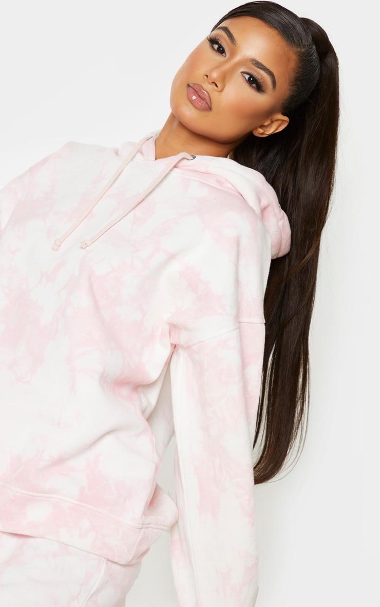 Light Pink Tie Dye Oversized Hoodie 4