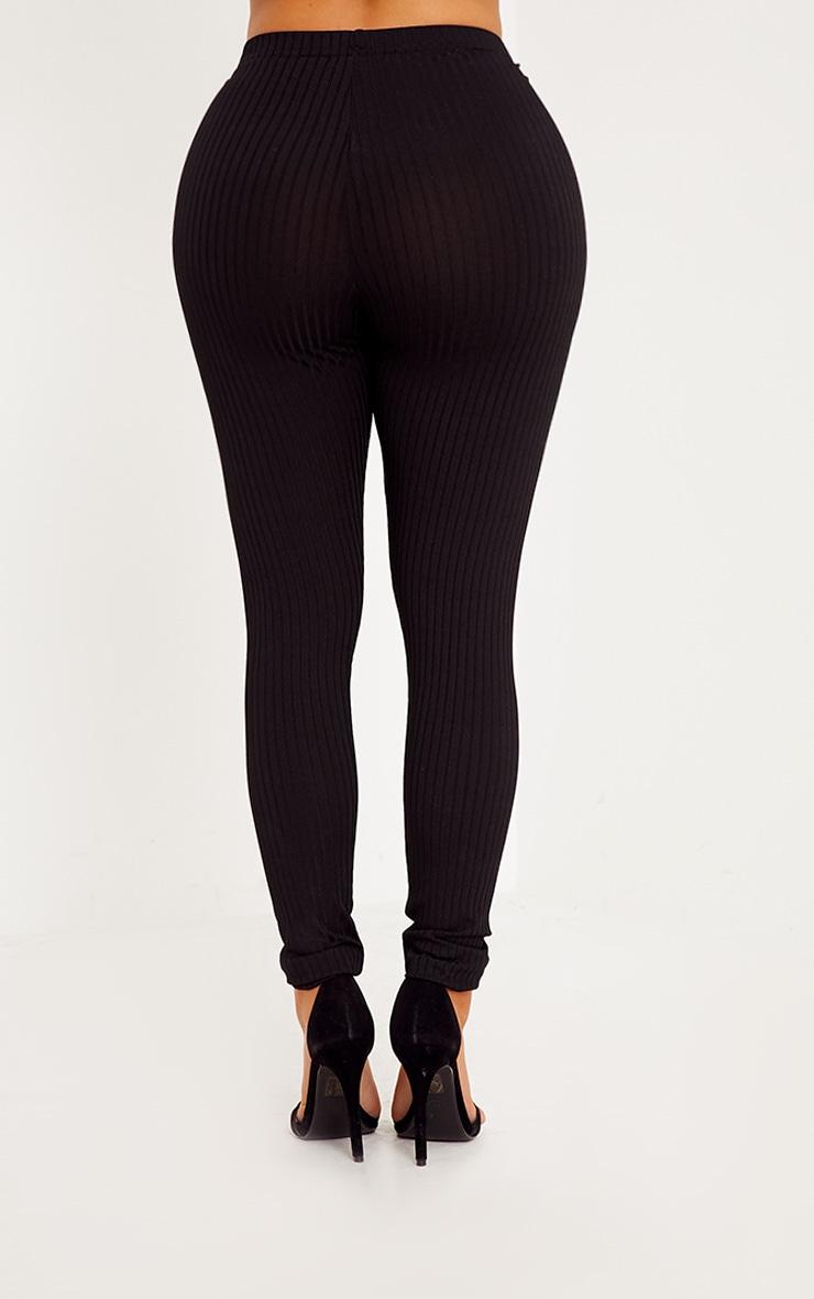 Shape Anusha Black Ribbed Leggings Co-ord 4