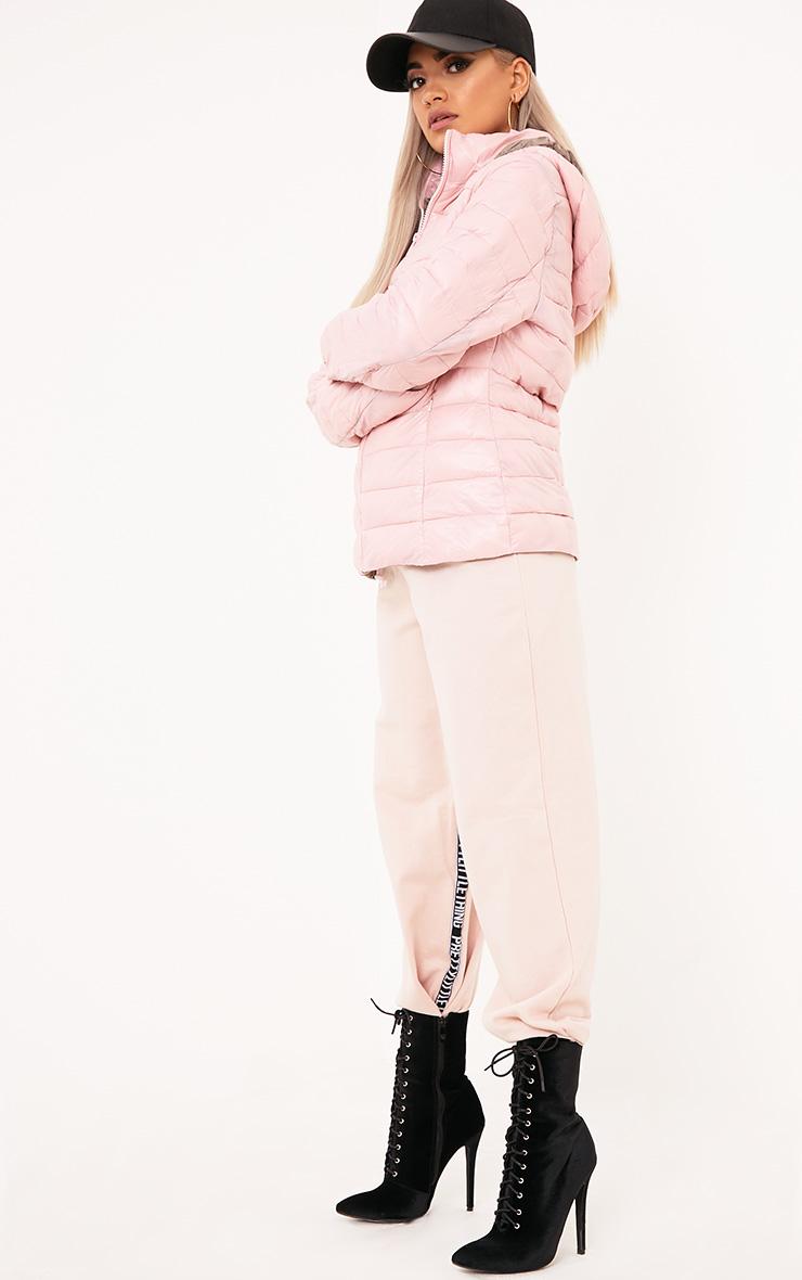 Abeliae Pink Puffer Coat  4