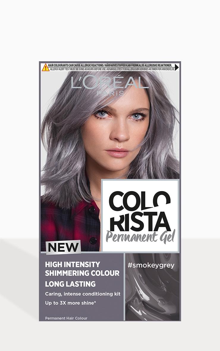 l'oreal colorista smokey grey hair dye long-lasting permenant hair colour