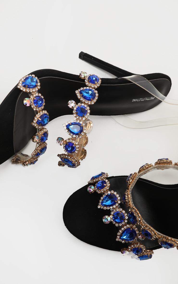 Black Jewel Embellished Mule 3