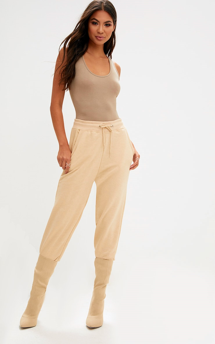 Basic Camel & Taupe Racer Back Bodysuit 2 Pack 6