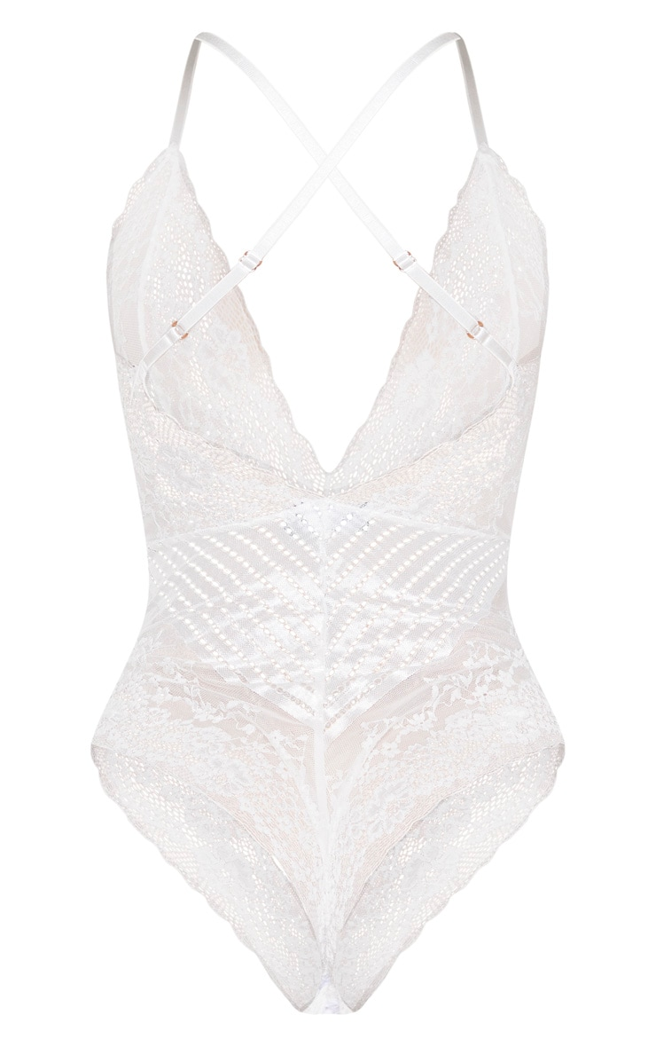White Mixed Delicate Lace Body 6