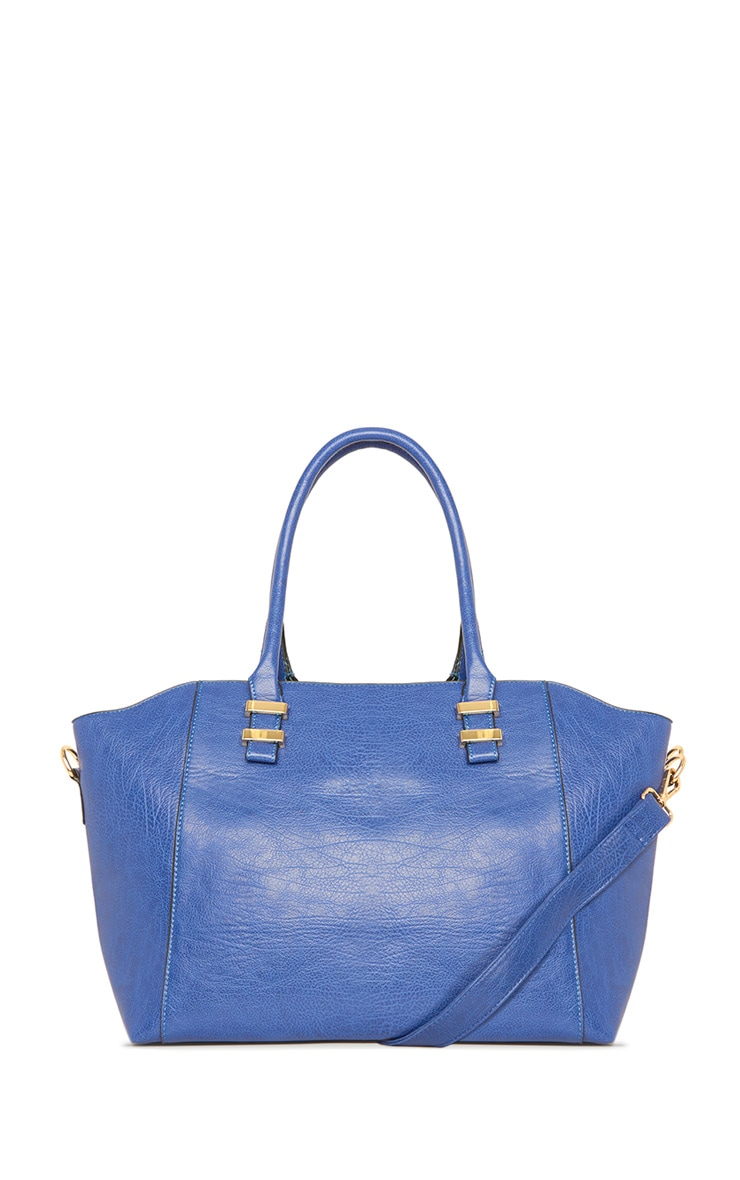 Rosa Blue Shopper with Detachable Strap 1