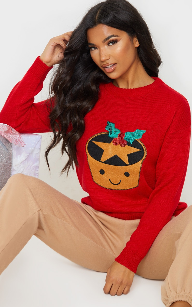 Red Mince Pie Christmas Jumper 1