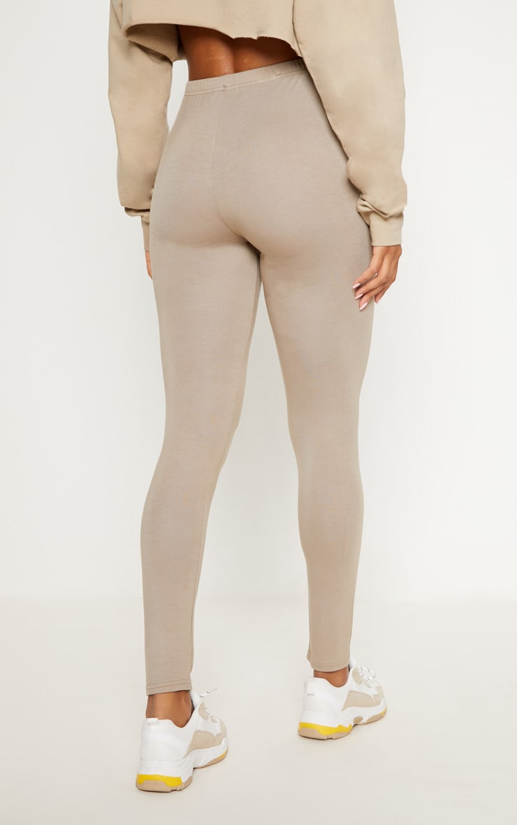 Burgundy and Taupe Basic Jersey Legging 2 Pack 6