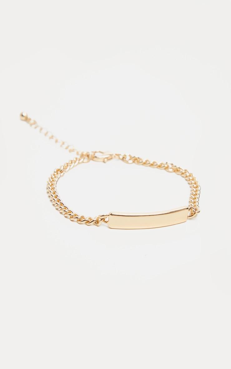 Gold Signet Chain Bracelet 2
