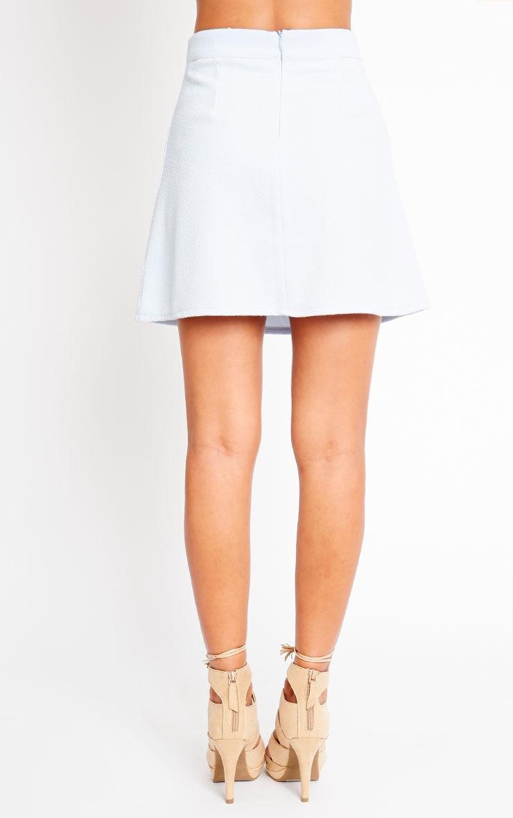 Rori Powder Blue Crepe A Line Mini Skirt 4
