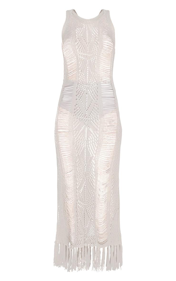 Rashida Cream Crochet Maxi Dress 3