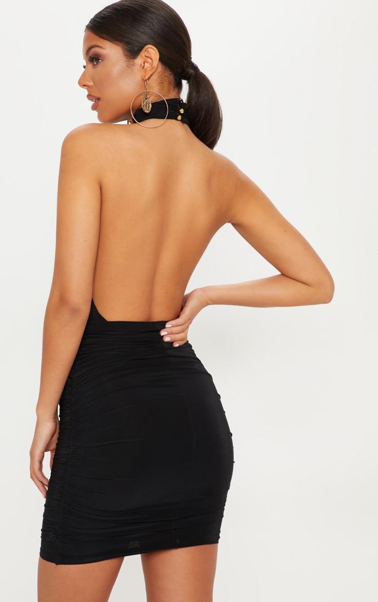 Bardot bodycon waist dress belt black leather faux below the knee