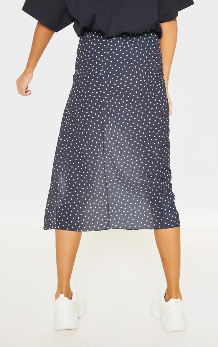 Tall Black Polkadot Wrap Pencil Skirt  4