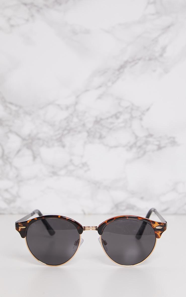 Tortoise Classic Round Retro Sunglasses 2