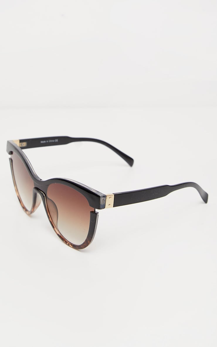 Black Oversized Cat Eye Tortoiseshell Sunglasses 3