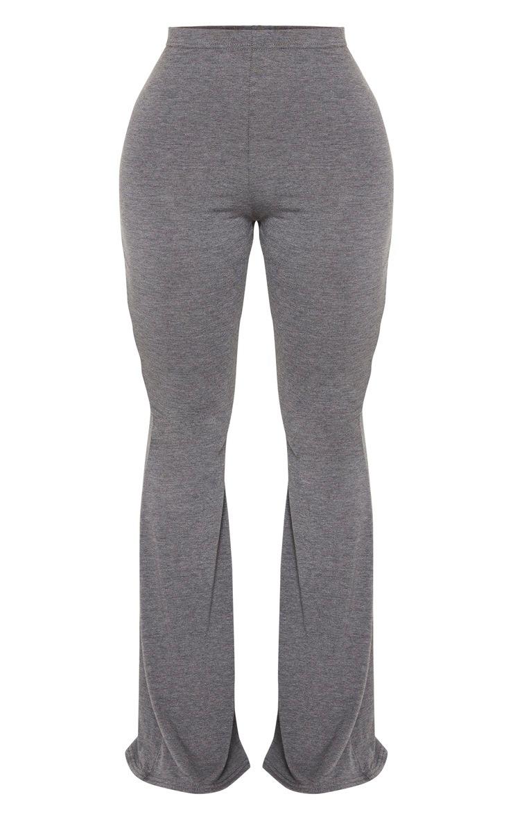 Shape Grey Jersey High Waist Flared Pants 5