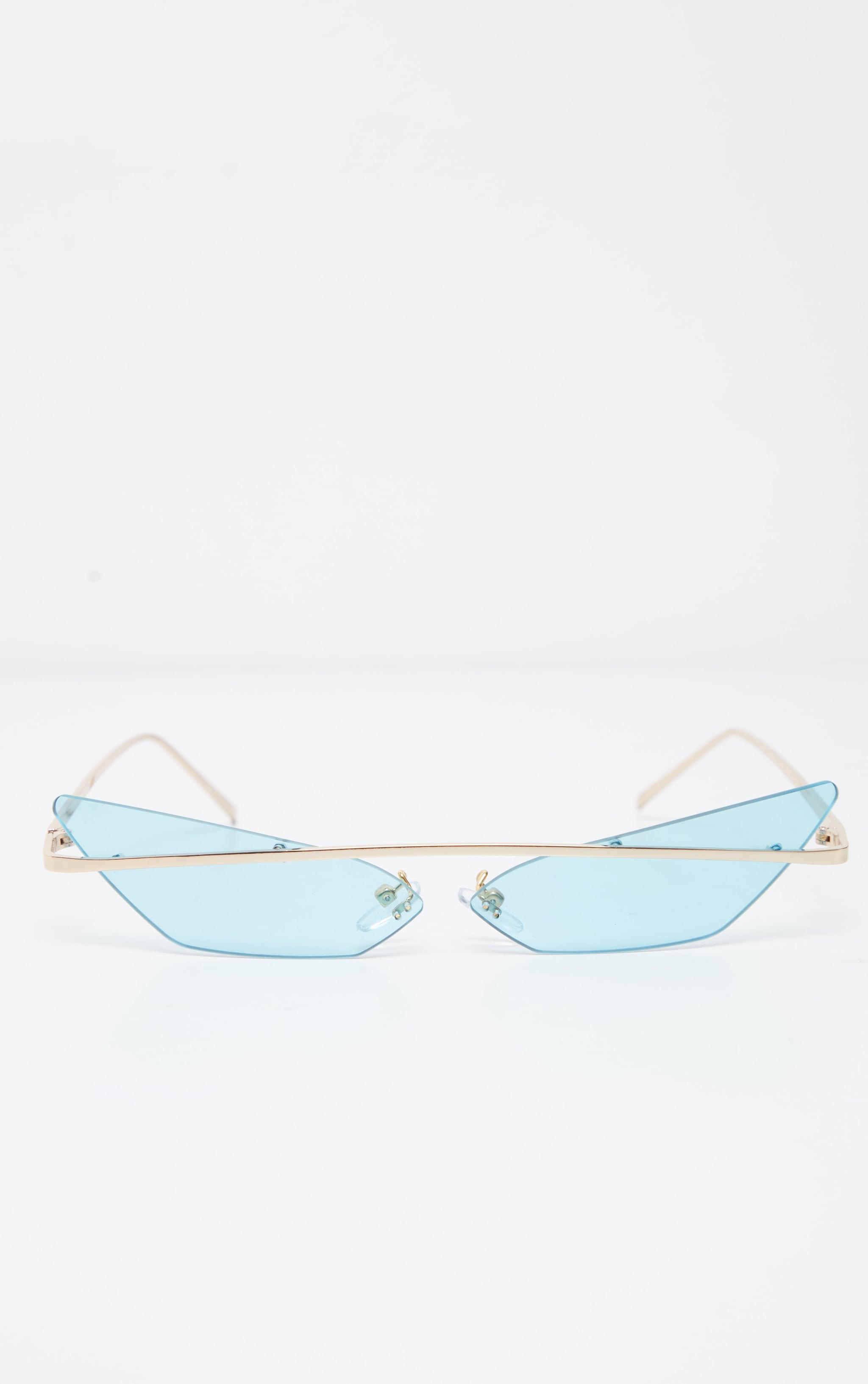 Blue Lens Brow Bar Cat Eye Sunglasses 2