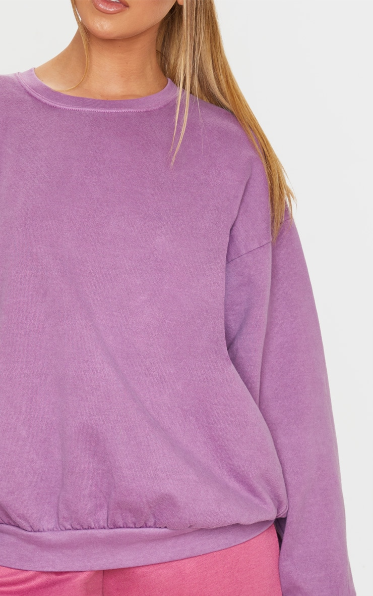 Violet Washed Oversized Sweater 5