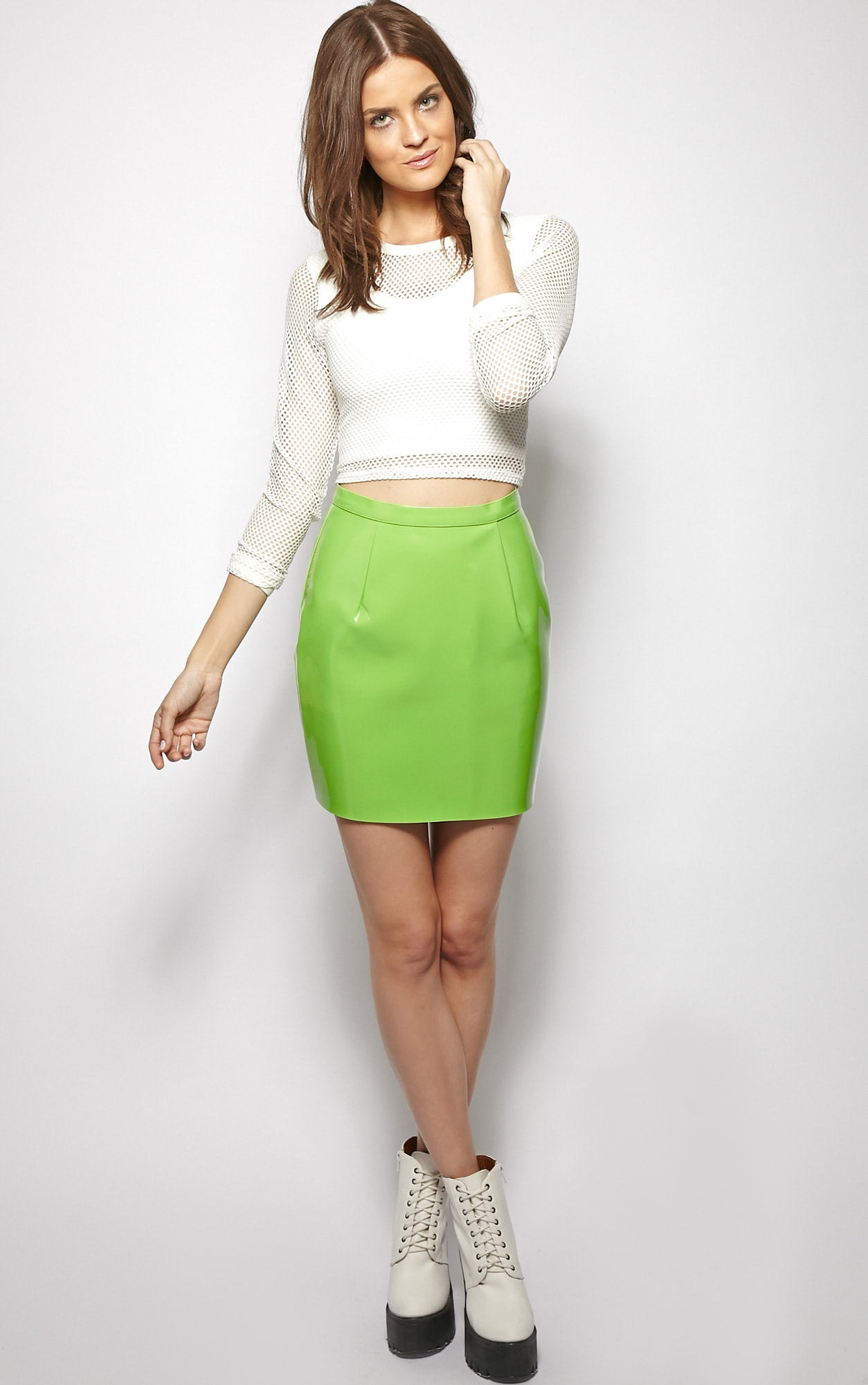 Natalya Green PVC Mini Skirt 5