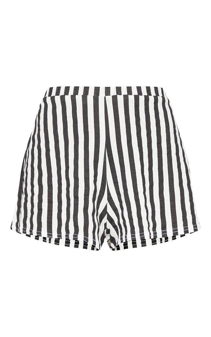 Petite Black Striped Shorts 3