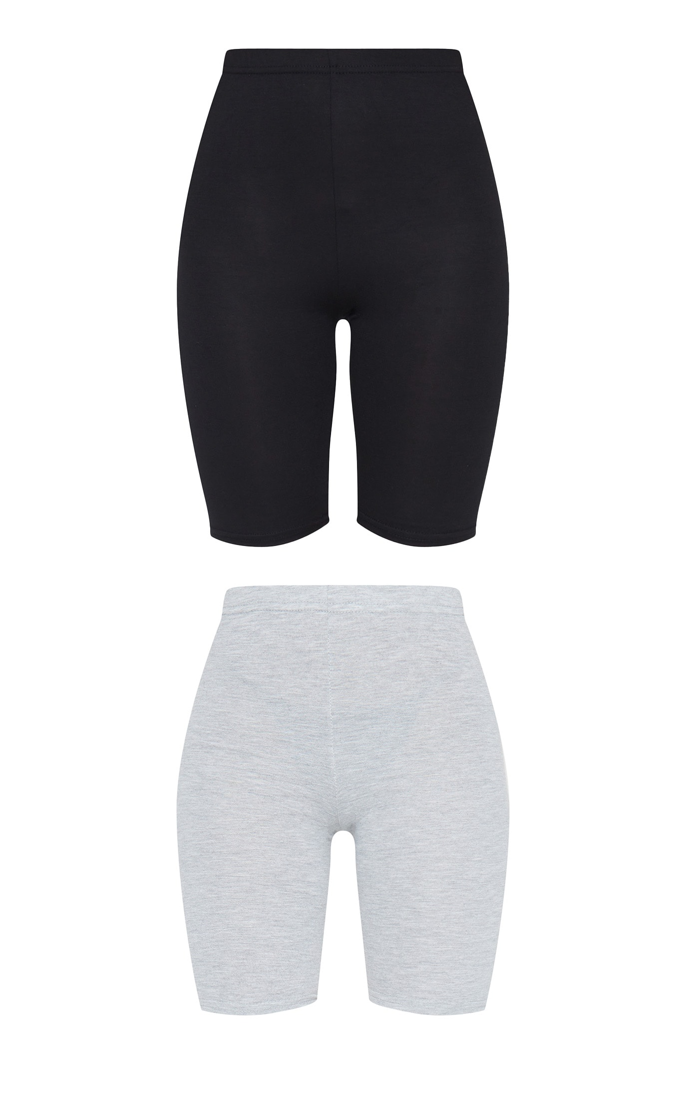 Black and Grey Basic Jersey 2 Pack Cycle Shorts 6