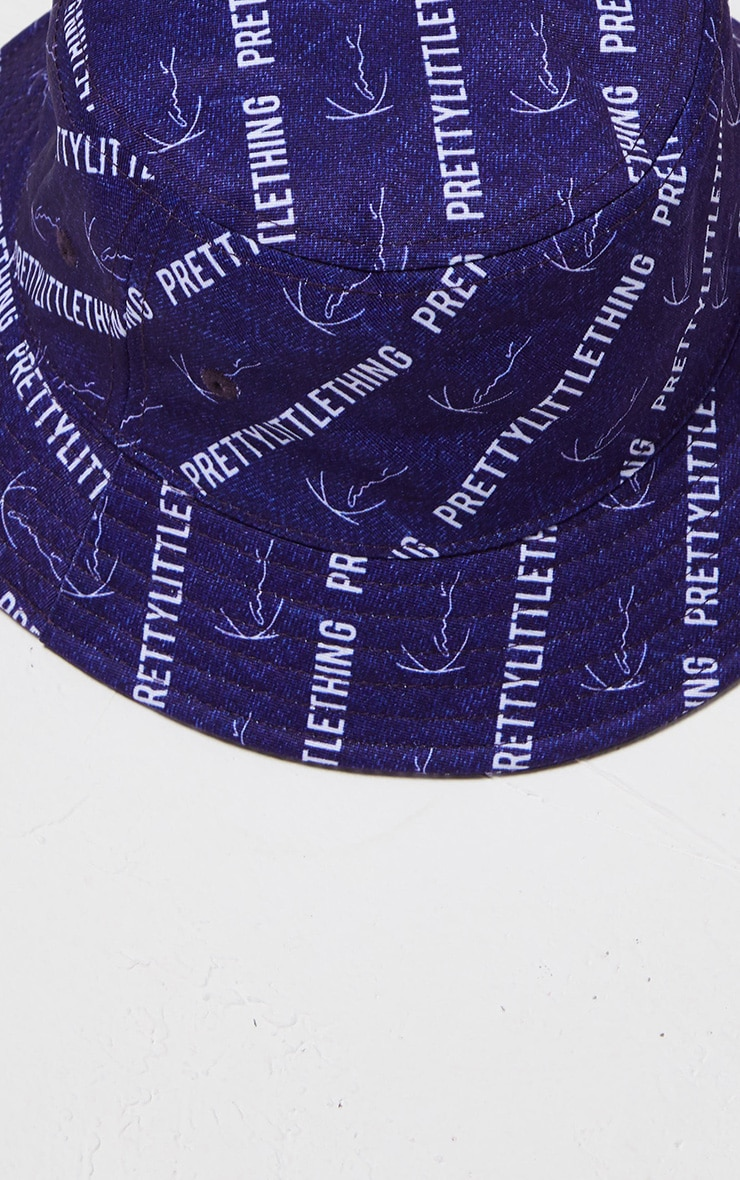 KARL KANI Denim Blue Bucket Hat 5