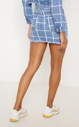 64377bf040 Mid Blue Wash Check Denim Skirt | Denim | PrettyLittleThing