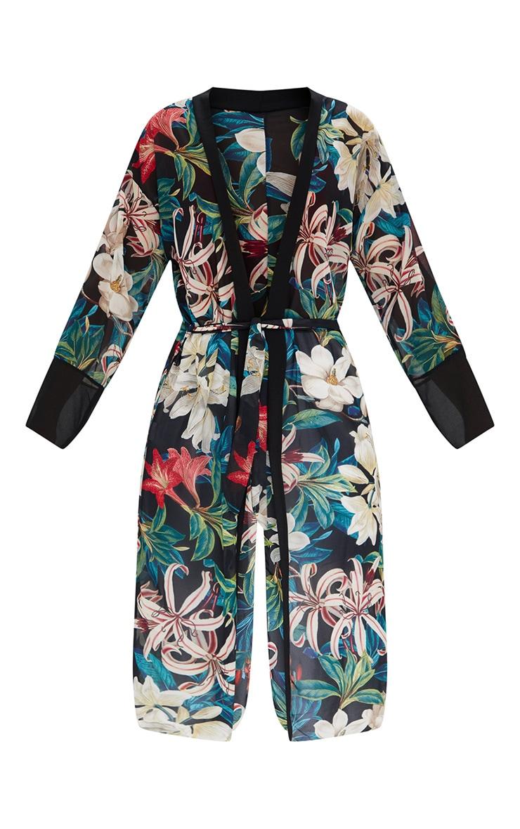 Black Floral Kimono 3
