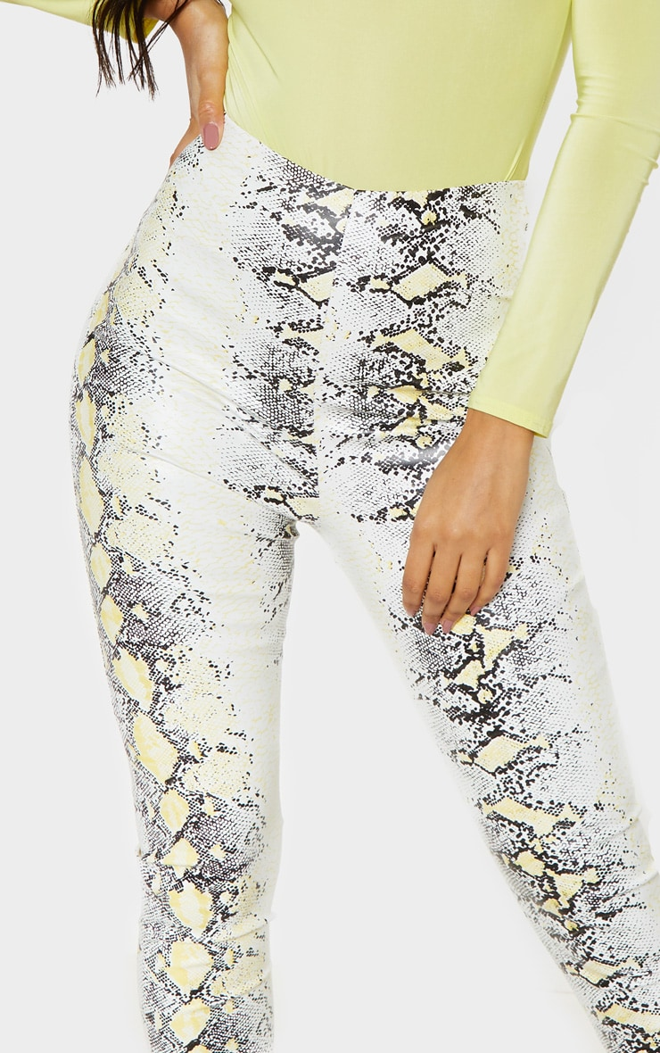 Neon Snake Faux Leather Skinny Trouser 5