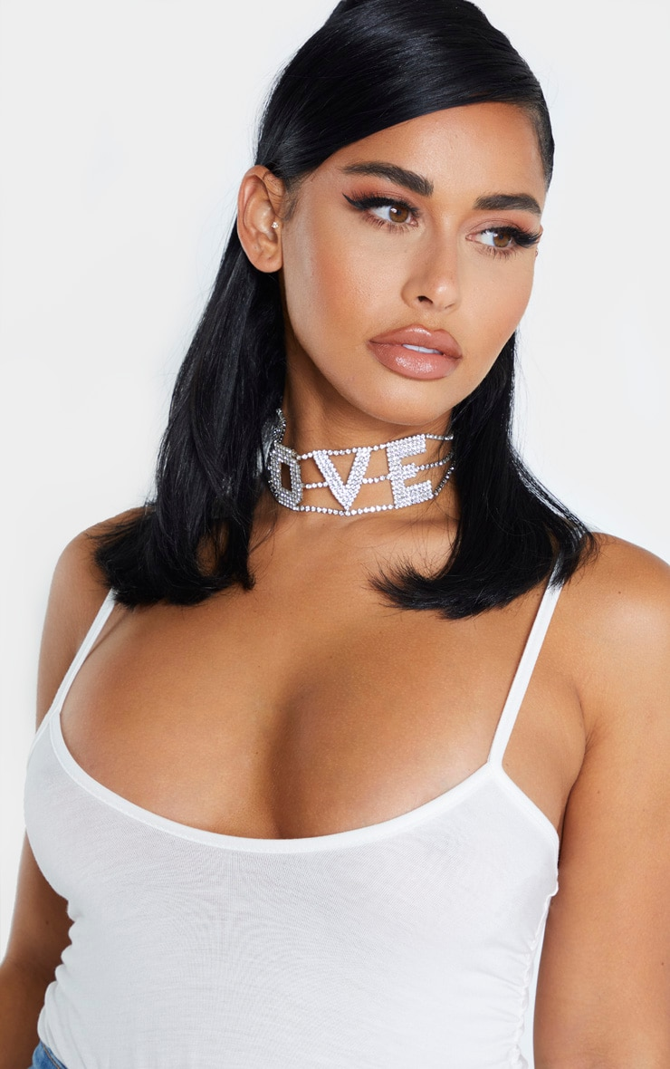Shape White Jersey Ruched Side Bodysuit 5