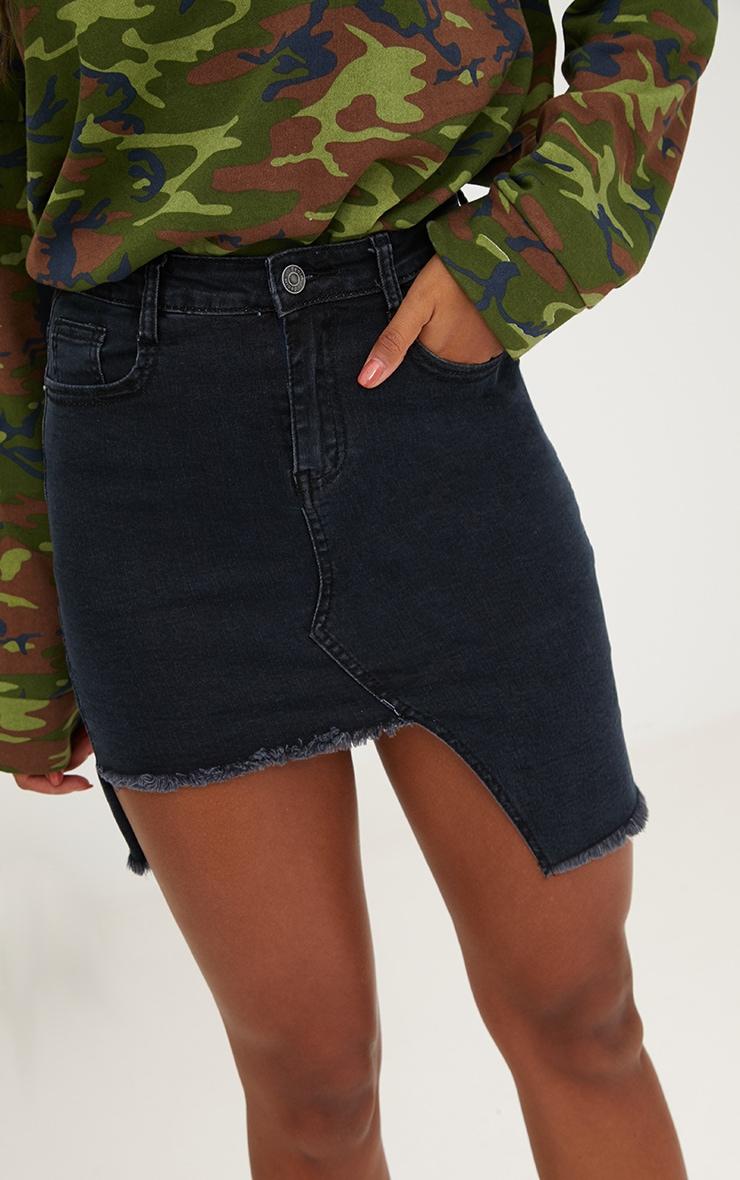 Black Step Hem Mini Skirt 5