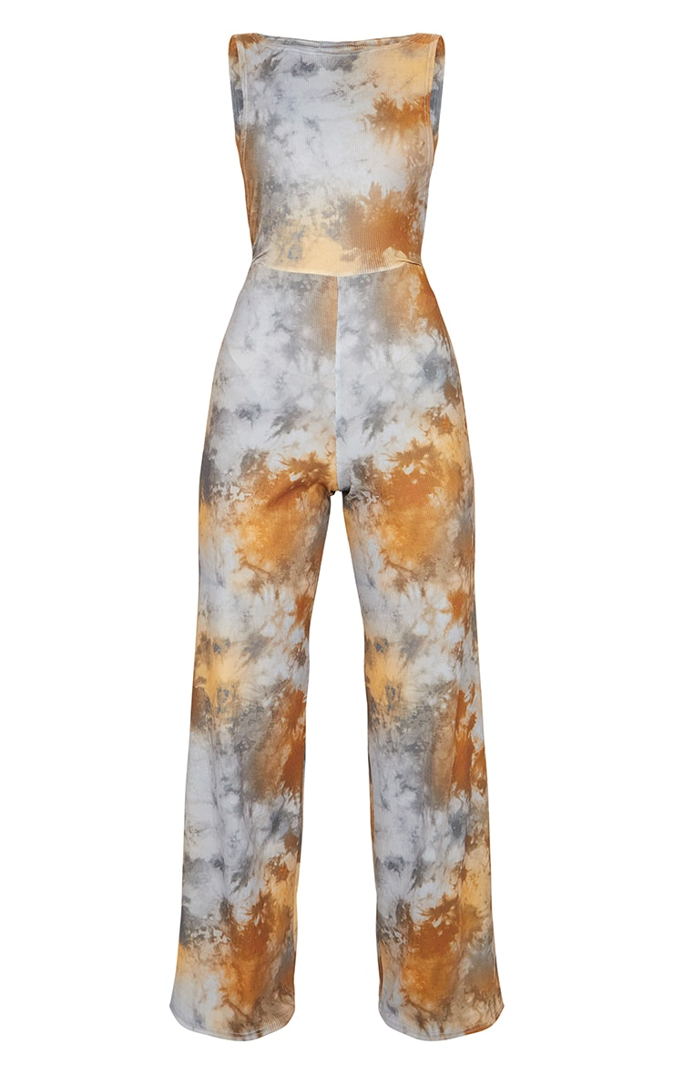 Multi Tie Dye Side Boob Jumpsuit 5