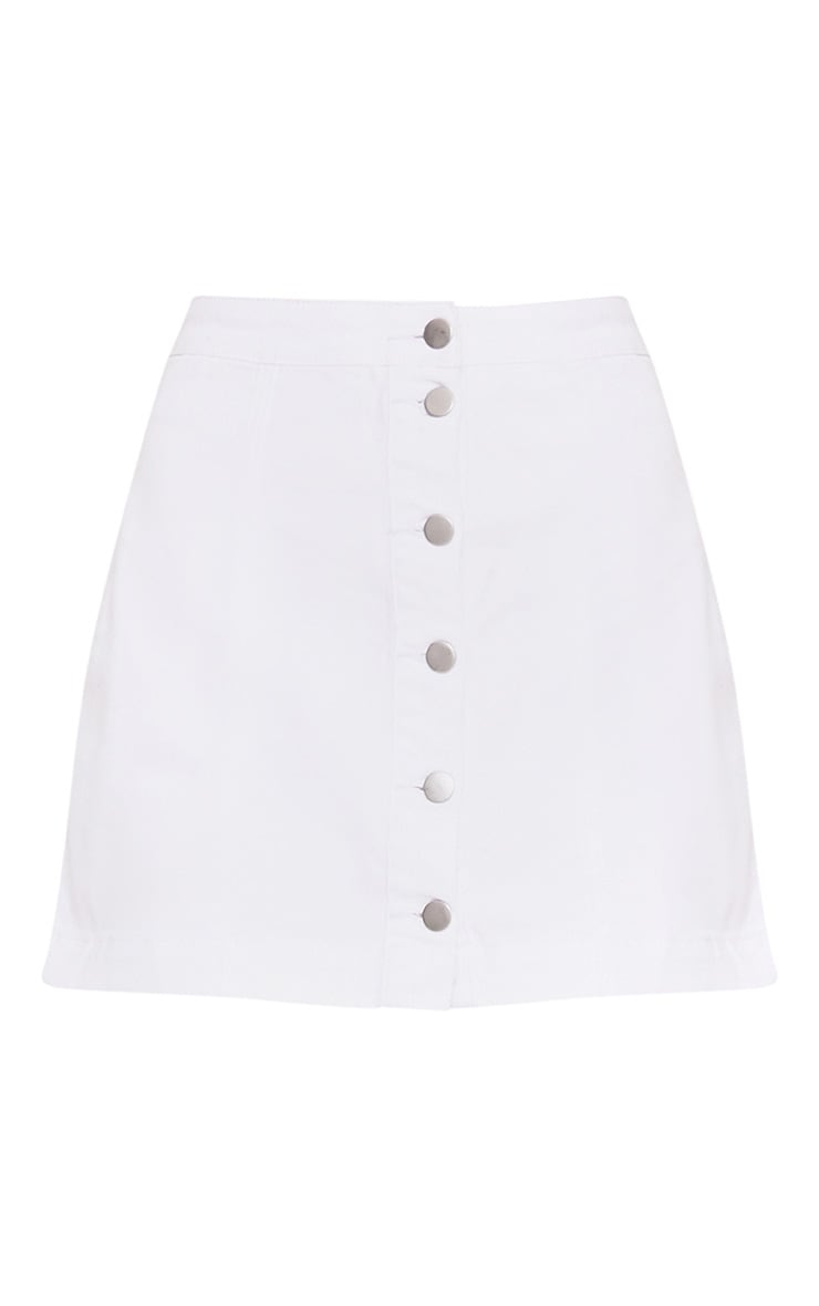 Cammie White Denim Mini Skirt  3