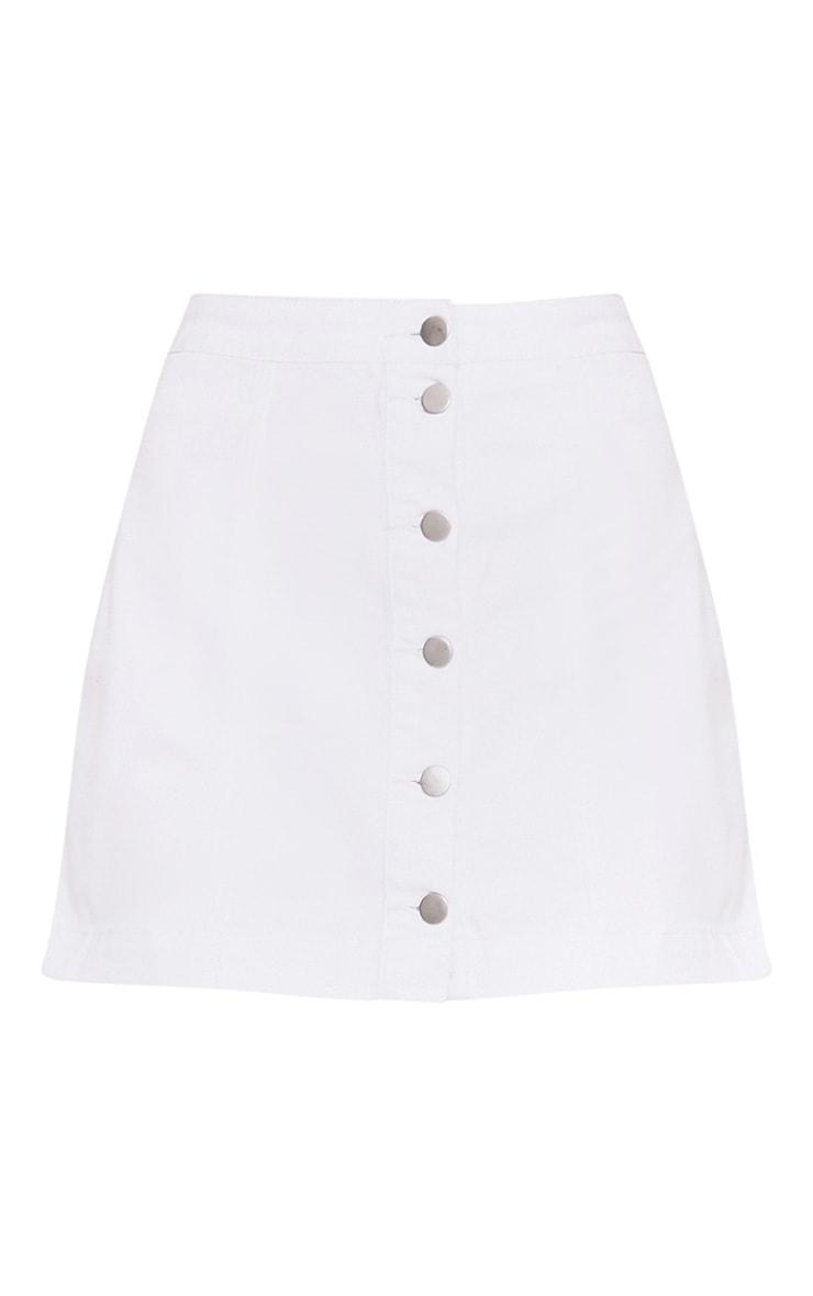 Cammie minijupe en jean blanche  3