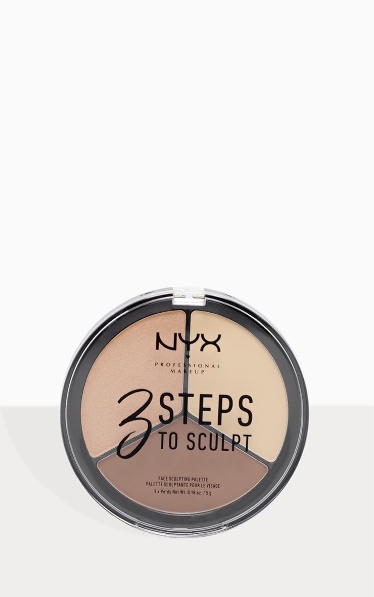 NYX PMU 3 Steps to Sculpt Face Sculpting Palette Light 3