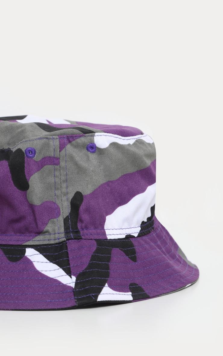 Purple Camo Bucket Hat 3