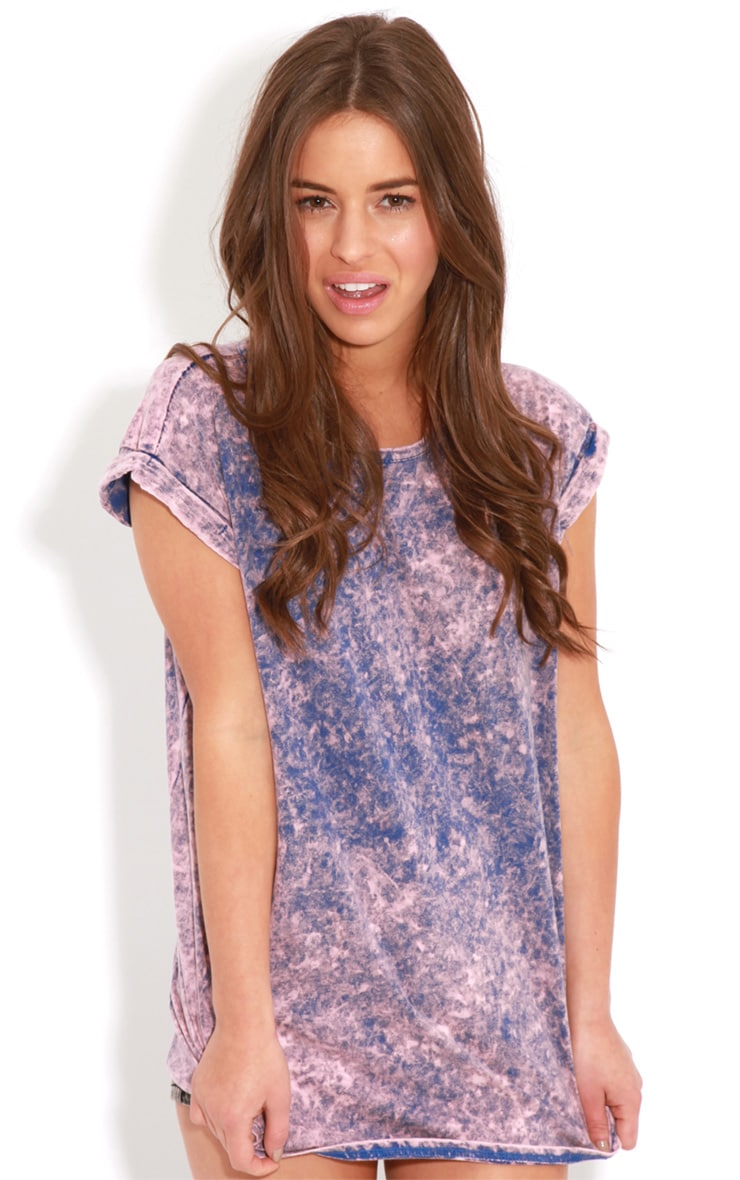 Anya Purple Acid Wash Oversize Tee 1