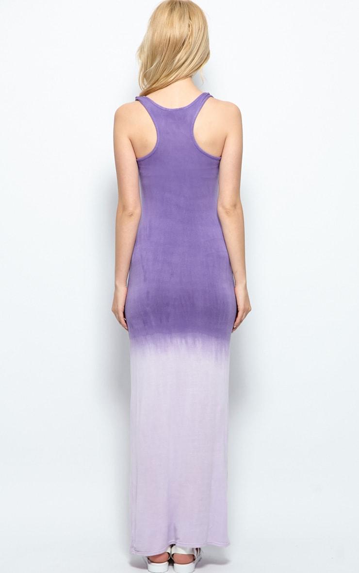 Tina Purple Ombre Maxi Dress 2