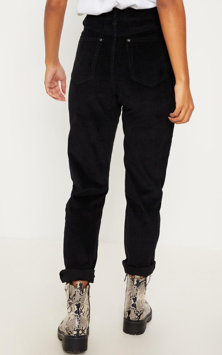 Black Jumbo Cord Mom Jean 4
