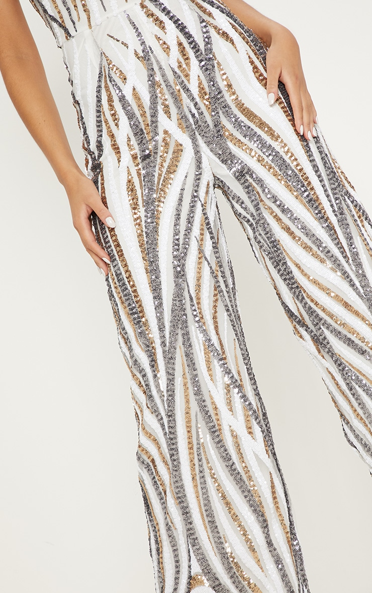 Gold Sequin High Neck Jumpsuit 5