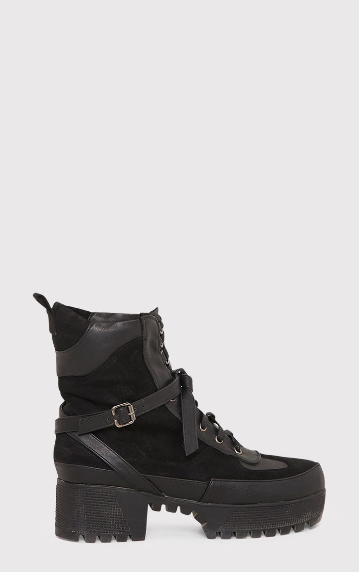 Karmel Black Biker Boots 2