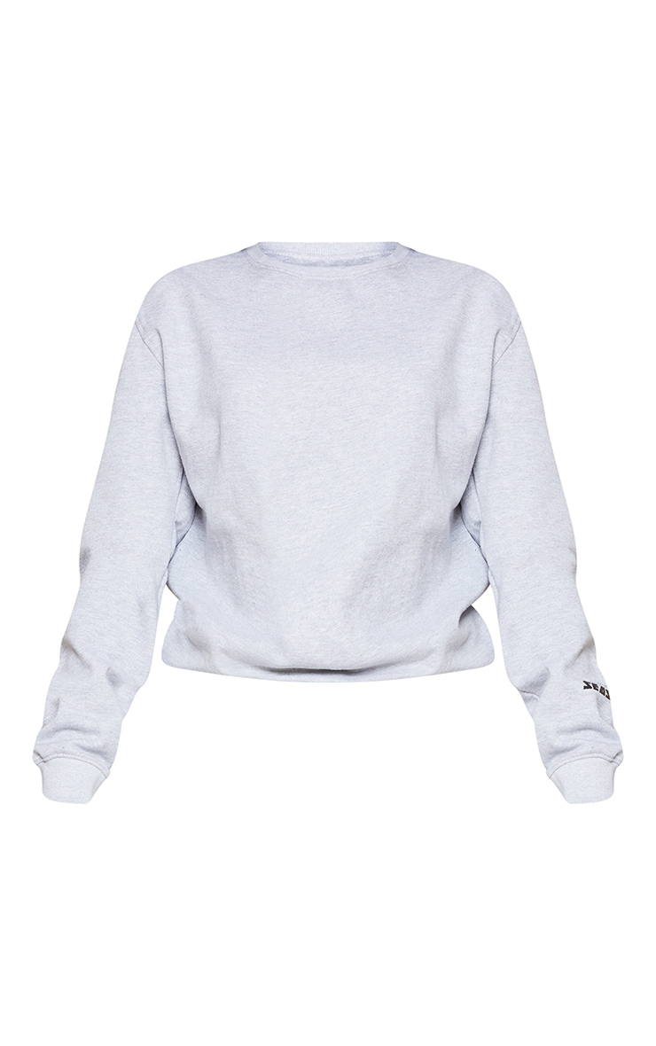 PRETTYLITTLETHING Grey Season 1 Slogan Sweater 6
