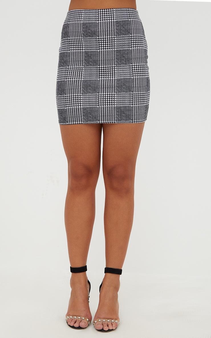 Black Check Mini Skirt   2