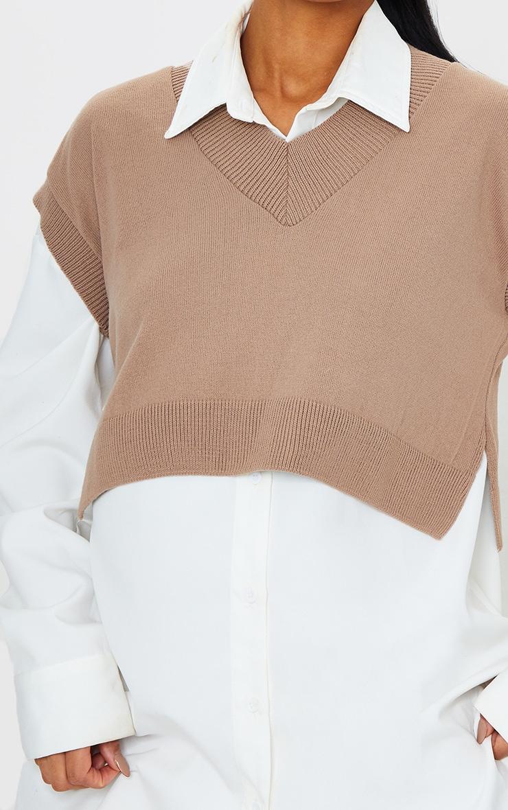 Stone Crop V Neck Knitted Vest 4