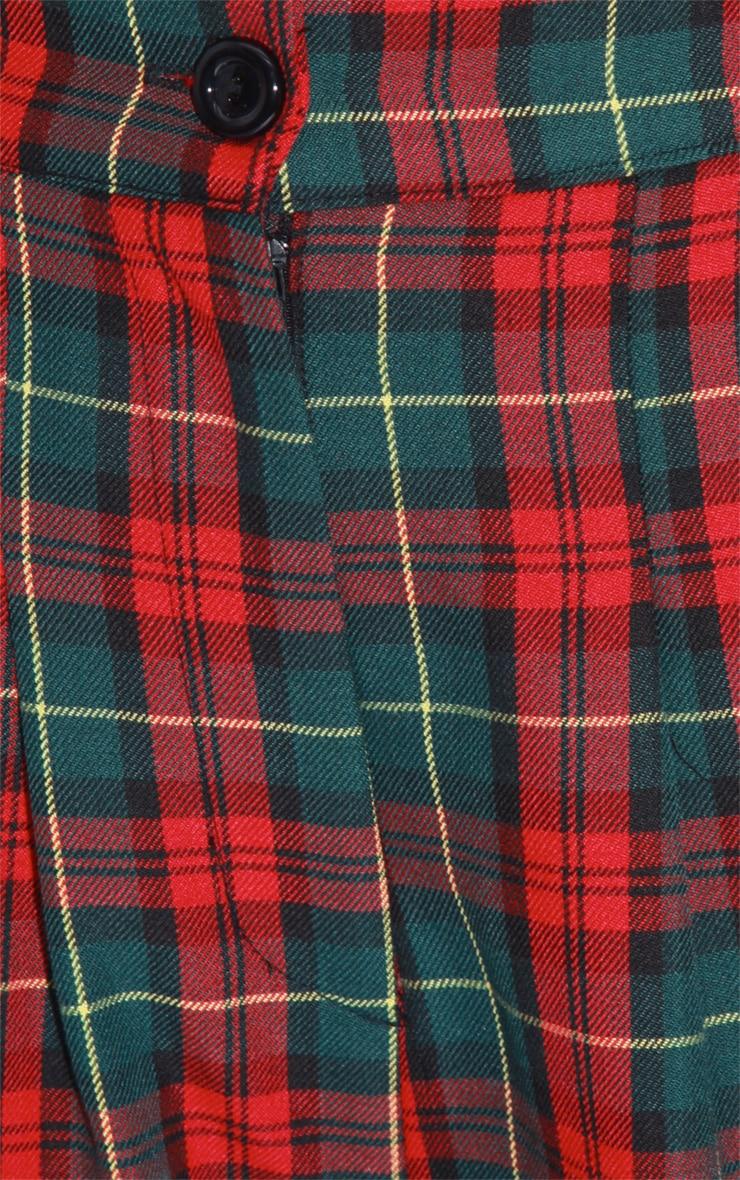 Arcadia Green High Waist Tartan Shorts 2