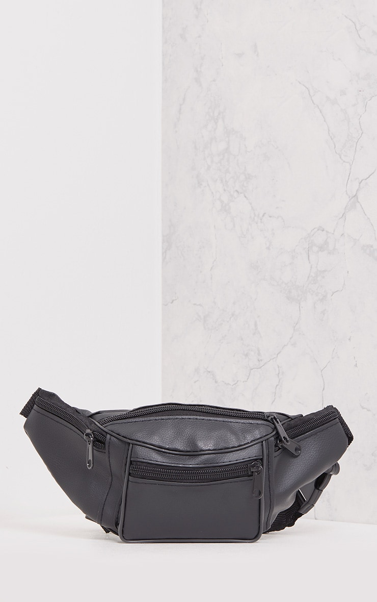 Annake Faux Leather Bum Bag Plain 4