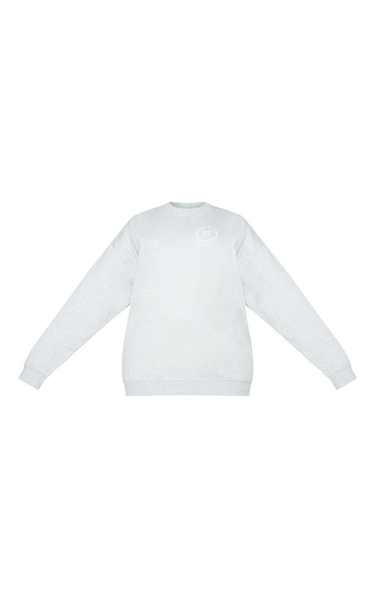 PRETTYLITTLETHING Plus Grey Branded Sweatshirt 5
