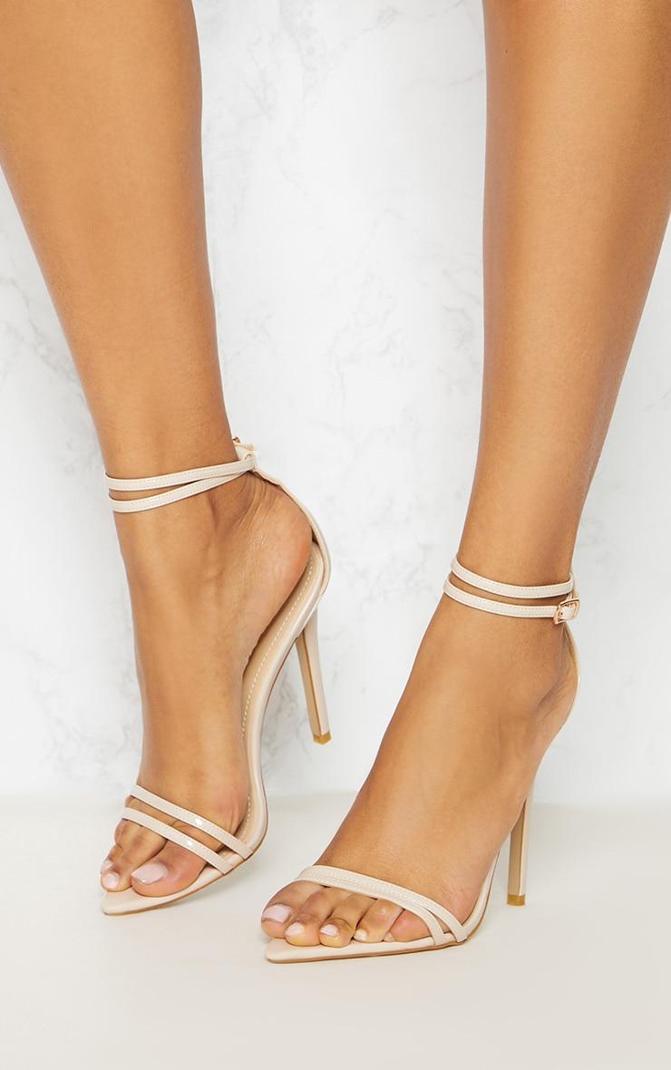 Sandales pointues nude très discrètes 2